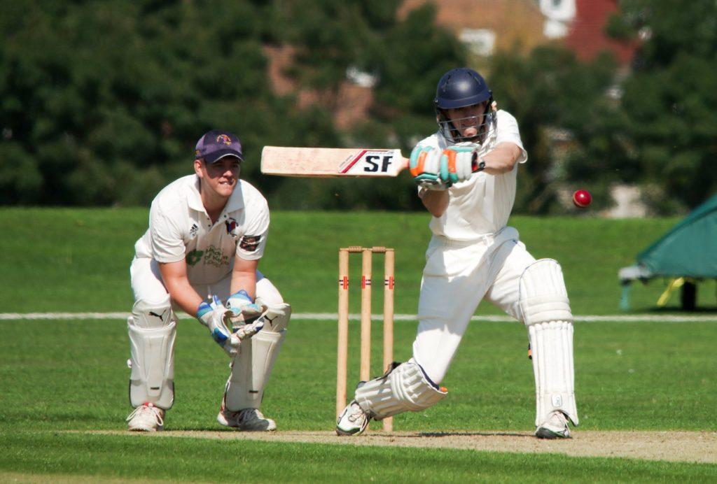 batsman playing cricket at three hills sports park
