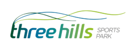 three hills sports park logo