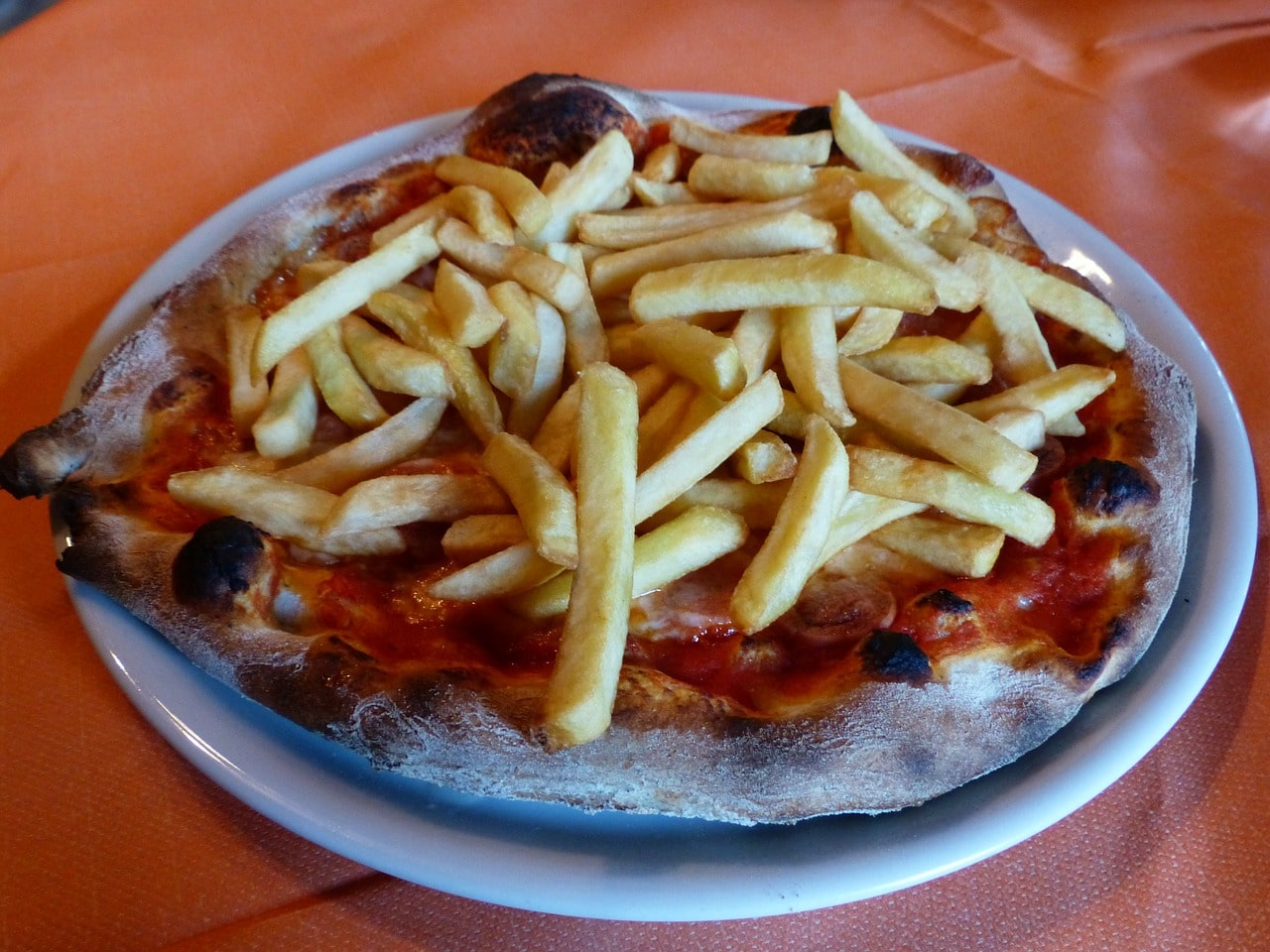 pizza and chips