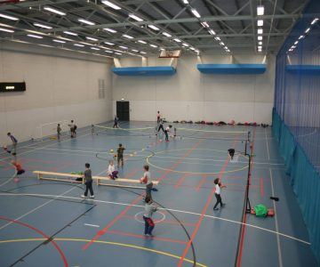 sports hall at three hills sports park
